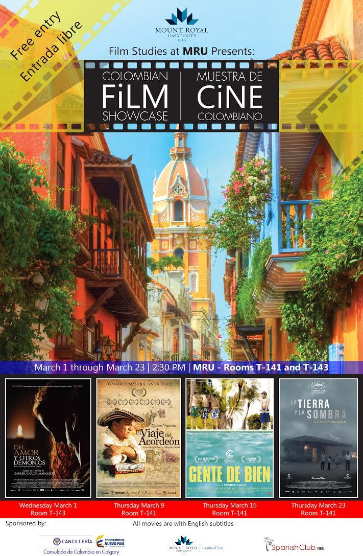 Colombian Film Showcase @ Mount Royal University | Calgary | Alberta | Canada