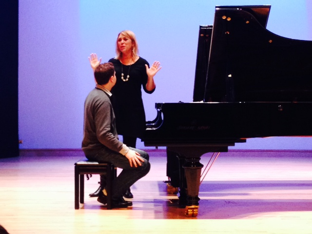 The Conservatory's Academy for Gifted Youth students enjoyed a masterclass with pianist Gabriela Montero March 30, 2014.