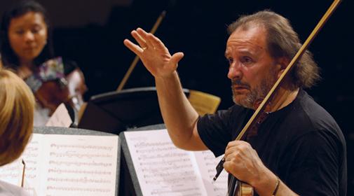 Violinist Tadeusz Gadzina