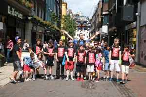 Calgary Boys' Choir at Carnaby Street on tour.