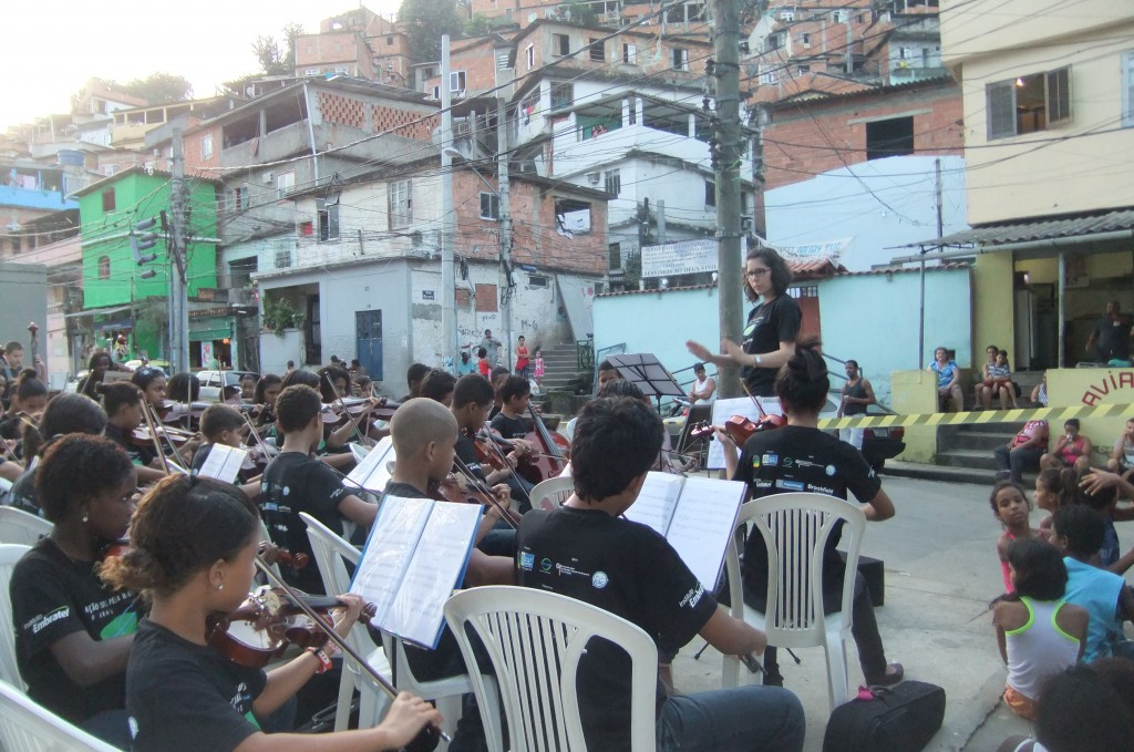 Conservatory harp instructor Gianetta Baril will soon be in Brazil teaching music for children living in the urban slums of Rio.