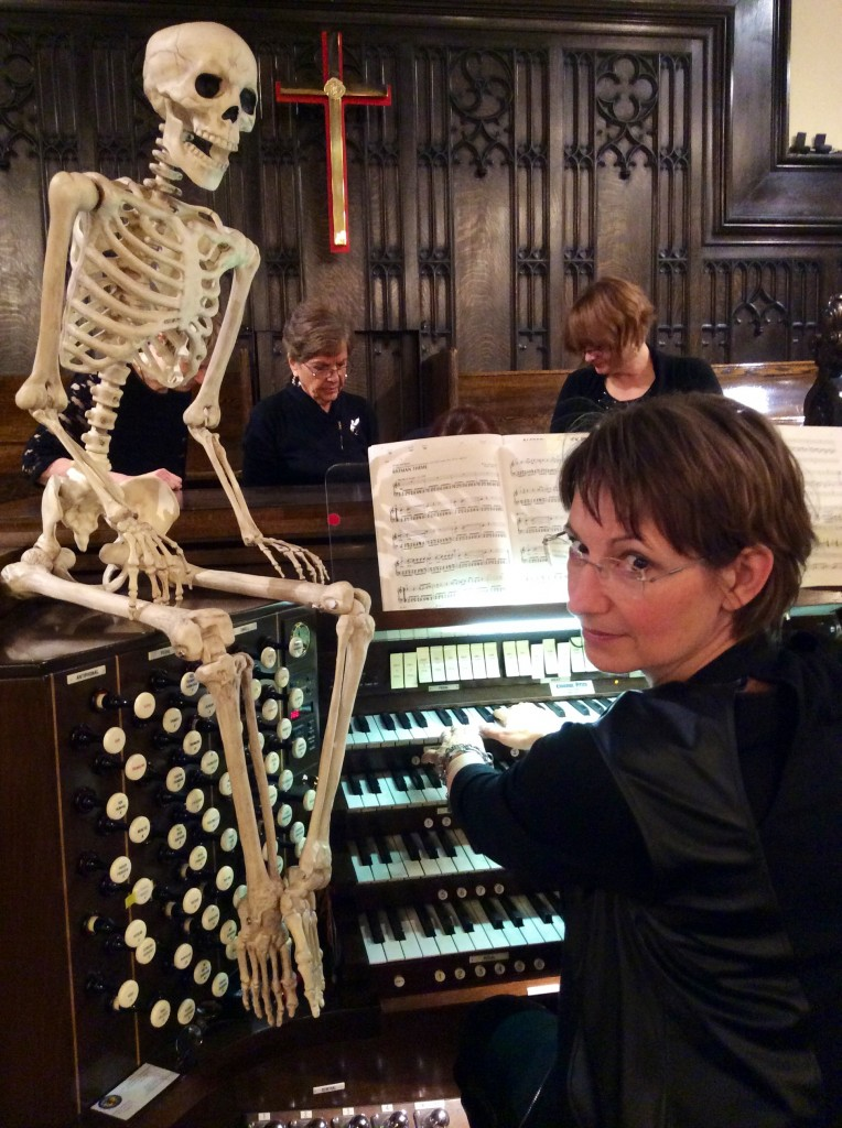 Organist Chellan Hoffman, music director of Knox United, is ready for Calgary Organ Festival's Halloween events tonight.