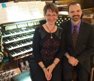 Meet your Calgary Organ Festival maestros: Chellan Hoffman and Neil Cockburn.