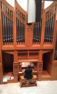 Neil Cockburn performing at a free, monthly recital inside Wyatt Recital Hall at MRU.