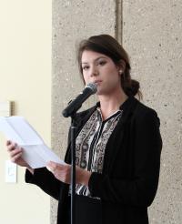 Former Academy student Natalie Wiebe